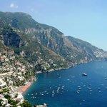 Vista de Costa de Amalfi - Italia