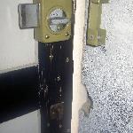 Broken draughty door