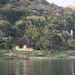 Umngazi Bungalows as seen from across the river