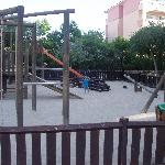 childrens playground next to pool