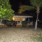 Our bungalow at night