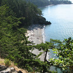 North Beach as seen from trail to bridge