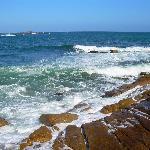 hermosa vista de lo que es el mar en el cabo
