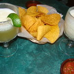 El Don maragarita, Coconut margarita, chips and Salsa