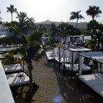 La plage VIP au petit matin