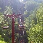 The view from the sky lift up to Natural bridge