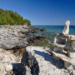 The Inukshuk is a man-made stone landmark used by native peoples which was used to mark trails