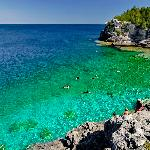 Indian Head Cove, a very popular place for swimming along the Georgian Bay Trail within BP Nat.