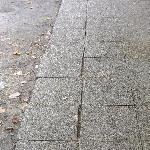 uneven flagstones where my six year fell over