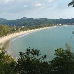 Kamala beach dall'alto