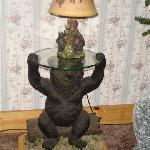 One of two bear lamp tables