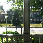 view of school from porch