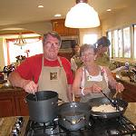 Grandpa & Great Grandma in the kitchen....