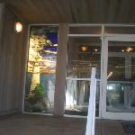 Entrance with beautiful stained glass window