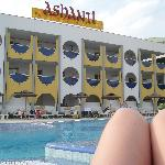 Ash's Knee by the pool in Ashanti
