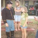 Pvt. Jim Hurley, 9th NYV cavalry & daughters