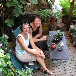 Diane and Lisa in the inner garden