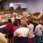 Sunnyslope El. students with docent explaining the Wellington Train Disaster.