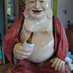 Smiling Buddha greets you at the door.