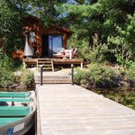 White Pine cabin from dock