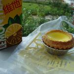 Egg Tart and Lemon Tea- taken at IFC