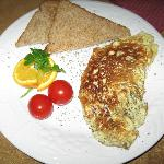 a typical breakfast plate
