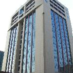 The hotel is located in the top floors.