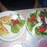 Quesadilla and salad combo at Chuy's on Barton Springs in Austin