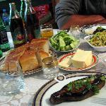 homecooked supper at B&B Nina