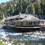 View of the lodge from across the Truckee
