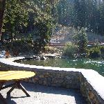View of the Truckee from the outdoor terrace
