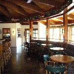 The dining room and bar area