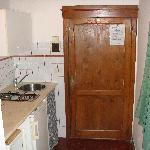 The kitchenette
