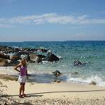 white sandy secluded beach off the jungle trekk