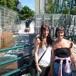 Me and my mum soaked after the log flume at Linnanmäki