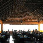 Inside the giant palapa