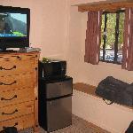 duplex bedroom with window seat