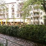 Atlantic Parkhotel and the Oosbach River