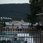 Lake George Steamboat Passing by