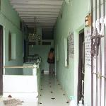Corridor with rooms on both sides