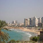 The view of Tel Aviv beaches from Jaffa