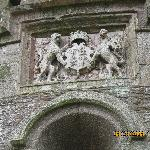 King Henry's ensignia over the entrance.