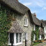 I was thrilled to see this thatched cottage walking to and from the Castle.