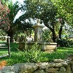 le jardin et sa fontaine