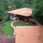 The view of the main lodge from the observation tower