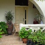 The front porch. We enjoyed white coffee while getting ready for the day