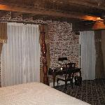 loved the exposed brick walls and ceiling beams - very cozy