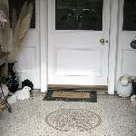 Front Door --- We love sheeps too!!! :)