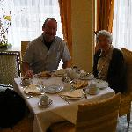 Breakfast in the light airy dinning room