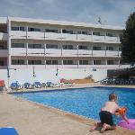 Hotel pool area